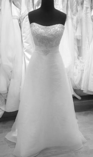 Vintage wedding dress shop sample