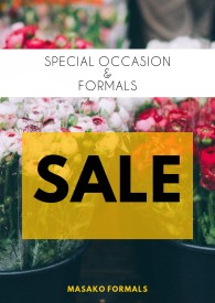Sale on select wedding, bridesmaids, and formal gowns