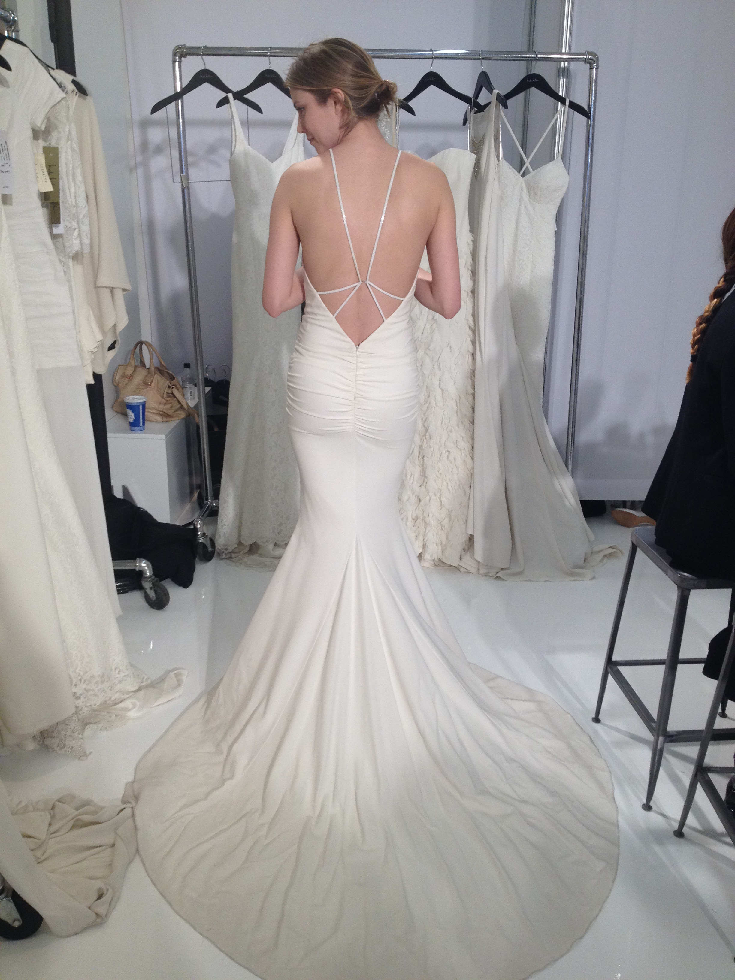 Nicole miller bridal at nyc bridal week masako formals for Honolulu wedding dress rental