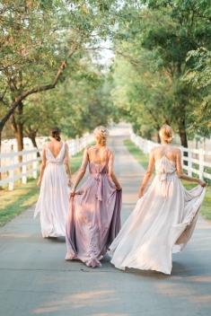 Joanna August bridesmaids dresses at Maskao Formals Hawaii